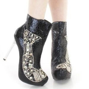 Shoes - Rhinestone & Sequins Western Boots Booties